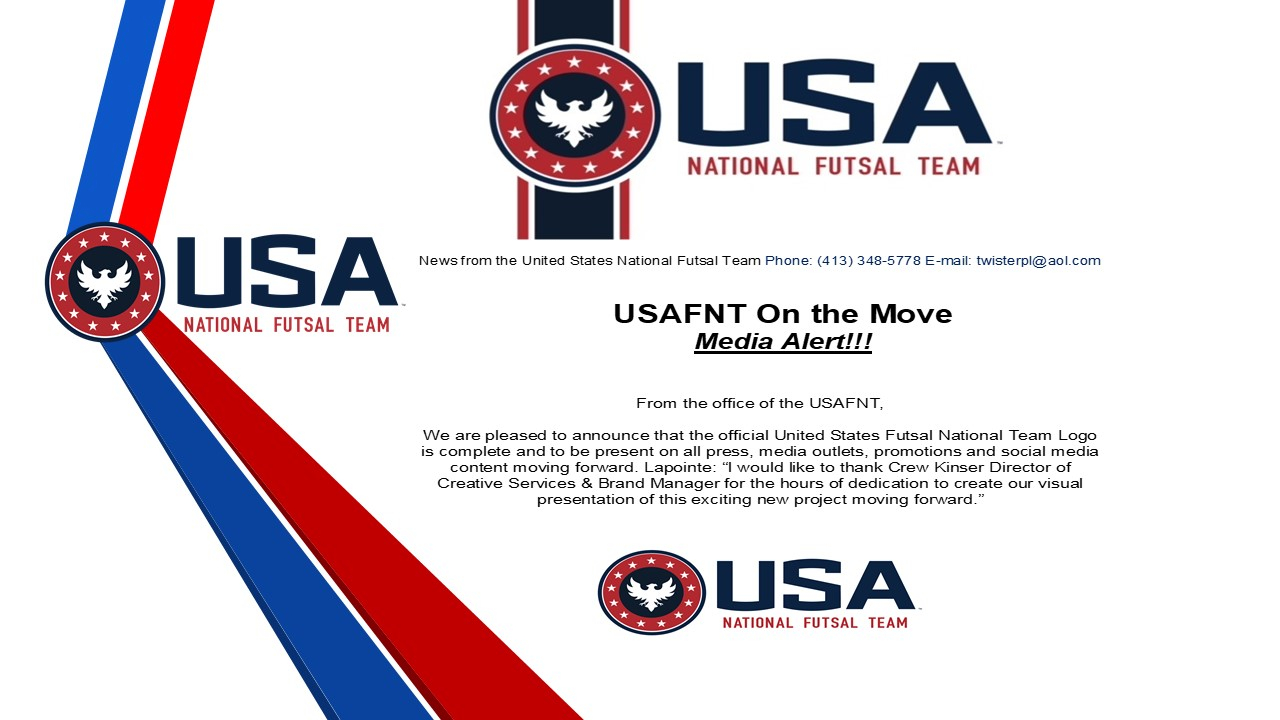 United States Futsal National Team Official Logo United States
