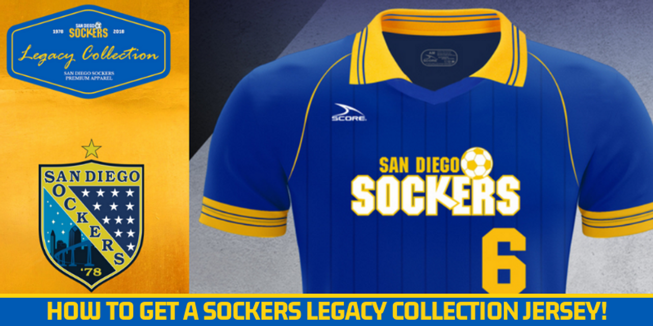 Sockers Legacy Collection Jersey On Sale Sunday - San Diego Sockers 11c845c37