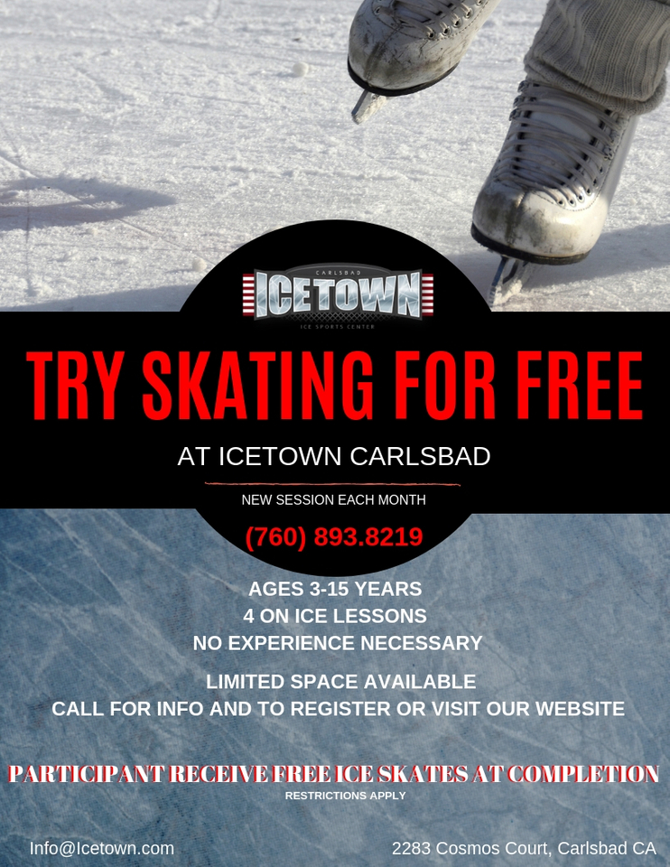 Skating Academy Try Skating For Free Icetown Carlsbad