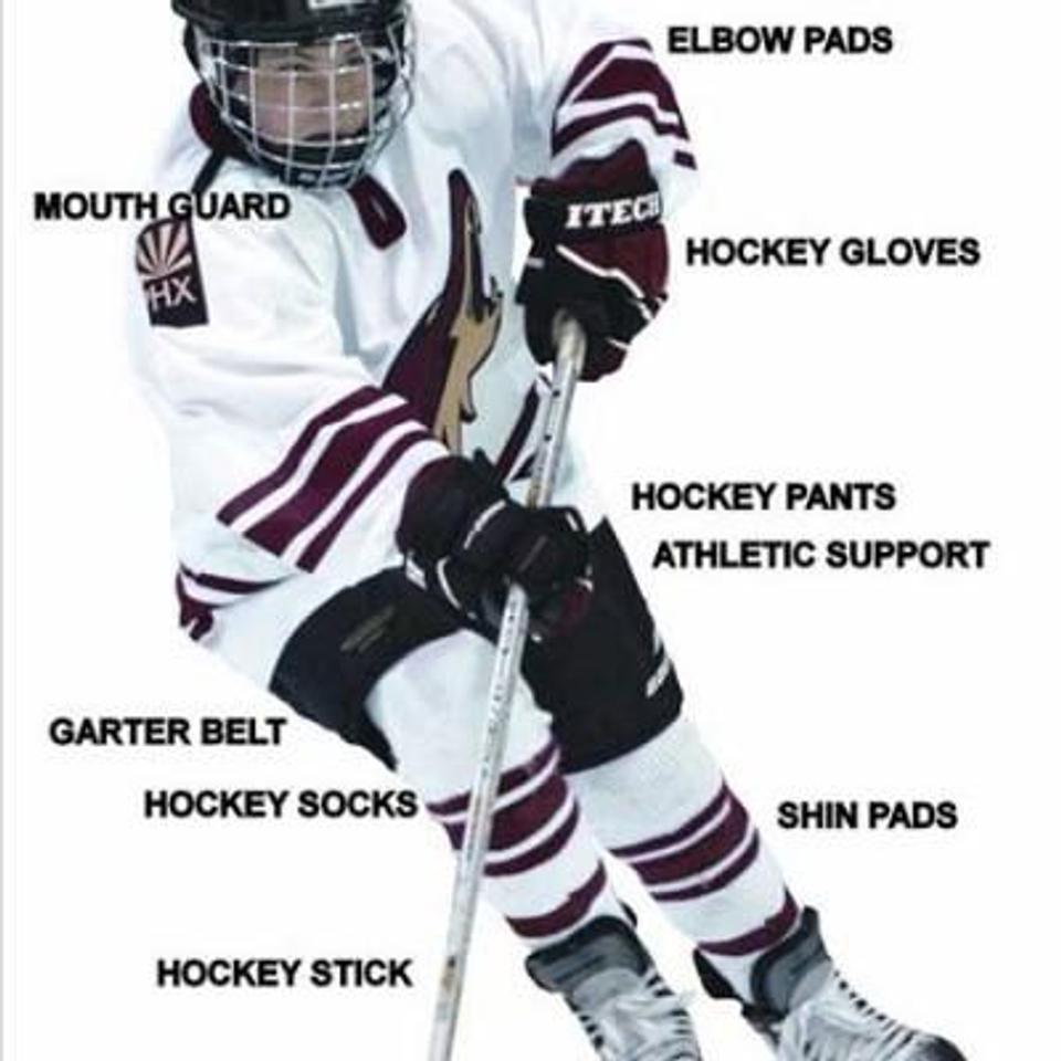 Hockey Stick Hockey Socks – League provides after 3 weeks. Jersey – League  provides