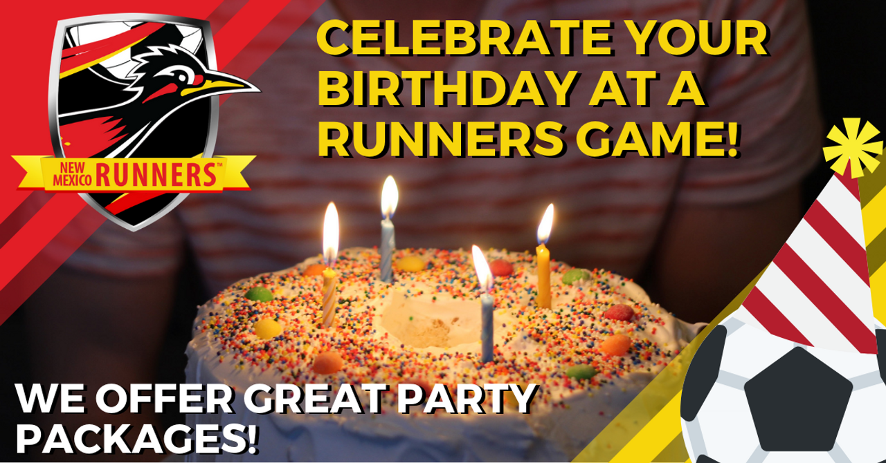 CELEBRATE YOUR BIRTHDAY WITH THE RUNNERS